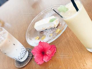 カフェ,夏,ケーキ,南国,沖縄