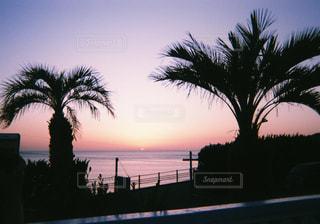 空,夕日,夕焼け,sunset,サンセット,写ルンです,フィルム写真,玄界灘