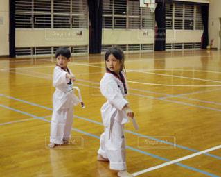 テコンドーを習い始めた子どもたちの写真・画像素材[1349643]