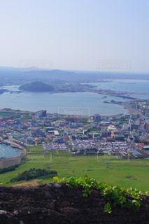 済州島 城山日出峰からの眺めの写真・画像素材[1403999]