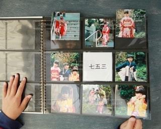 ゼットアンドケイのましかくアルバム活用例の写真・画像素材[2699447]