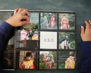 ゼットアンドケイのましかくアルバムで写真整理の写真・画像素材[2699457]