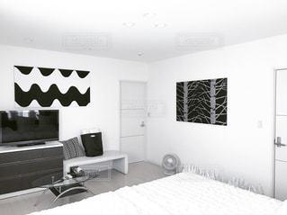 モノトーン,ベッドルーム,ニトリ,無印良品,サーキュレーター,寝室,IKEA,マリメッコ,marimekko,北欧インテリア,bedroom,ベッド,モノトーンインテリア,ファブリックパネル,tarpbag