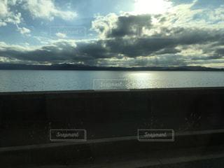 風景,空,旅行,東北,福島県,秋空,日中,猪苗代,車内撮影