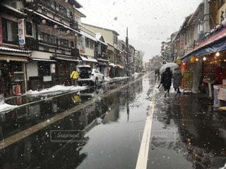 温泉,雪,旅行,温泉街