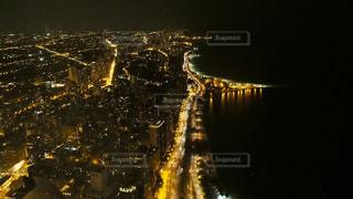 夜景,海辺,アメリカ,ライト,シカゴ,360°