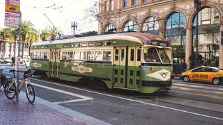 風景,屋外,電車,アメリカ,観光,旅行,旅,可愛い,サンフランシスコ