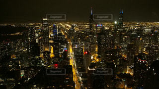 風景,夜,夜景,ネオン,都市,アメリカ,観光,都会,旅行,旅,シカゴ,都市の景観