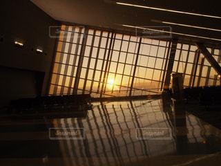 空,建物,太陽,朝日,反射,光,空港,無人,ラスベガス,エアポート,くうこう