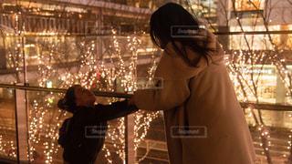 女性,子ども,家族,2人,親子,子供,イルミネーション,アンバサダー,グランフロント大阪,シャンパンゴールド