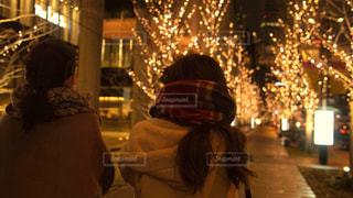 女性,2人,イルミネーション,アンバサダー,グランフロント大阪,シャンパンゴールド