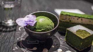 京都の抹茶アイスの写真・画像素材[2985849]