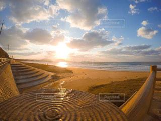 風景,海,空,夕日,ビーチ,夕焼け,海岸,田舎,浜辺
