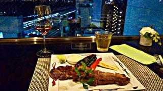 夜景,お酒,東京,高層ビル,ワイン,お茶,料理,おいしい,外食,お肉,お肉料理