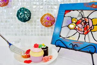 ケーキ,ピンク,かわいい,バラ,DIY,ライト,ハート,丸,工作,デコ,デコレーション,カフェ風,飾り,デコレーションケーキ,ビーズ,写真たて,ステンドグラス風,多色