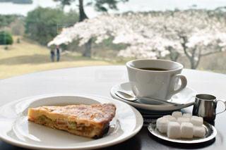 カフェ,海,桜,ケーキ,コーヒー,絶景,松島,東北