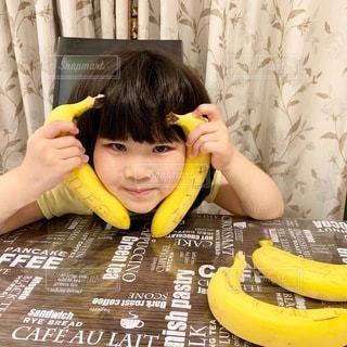 食べ物,黄色,カーテン,果物,人,赤ちゃん,幼児,バナナ