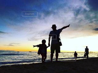 仲良し父と子の写真・画像素材[950594]