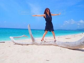 海,空,青空,砂浜,沖縄,旅行,リゾート,快晴,久米島,はての浜,国内旅行,フォトジェニック,沖縄離島