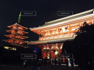 浅草寺ライトアップ - No.1199042