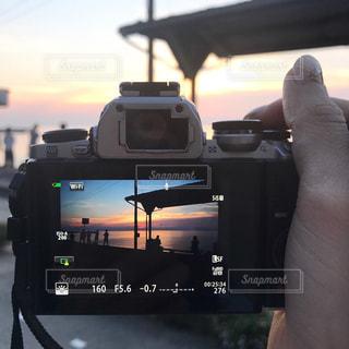 下灘駅の夕焼けの写真・画像素材[1420698]