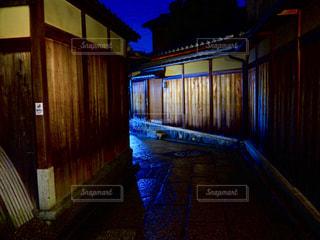 夜,雨,京都,小道,旅行,路地,雨上がり,梅雨,路地裏,裏道,町家