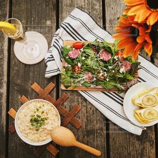 食事,ランチ,木製,お家,リゾット