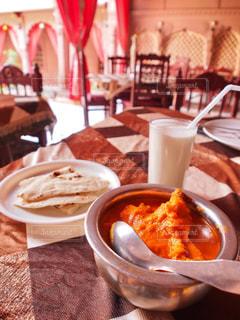 インドで食べたカレーの写真・画像素材[816888]