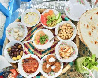 アラブの朝食の写真・画像素材[1182380]