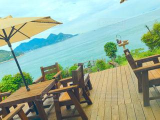 テラス,海の見えるカフェ