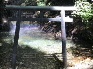 岩門の滝の虹の写真・画像素材[2509568]