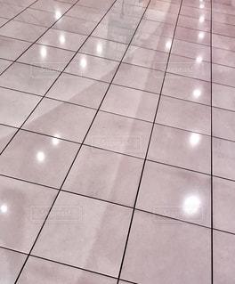 タイル張りの床のクローズアップの写真・画像素材[2721966]