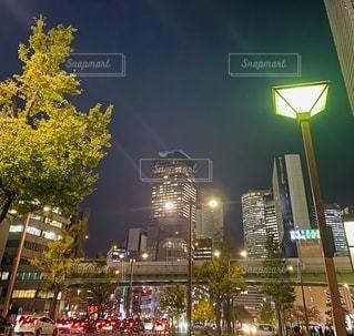 夜の街の眺めの写真・画像素材[2763373]