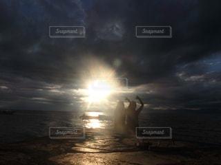 夕日,sunset,常夏,shaka,ジェスチャー,soulmate