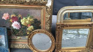 インテリア,ヨーロッパ,鏡,旅,絵画,フランス,パリ,Paris,蚤の市
