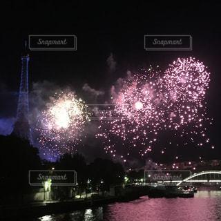 夏,花火,旅,フランス,パリ