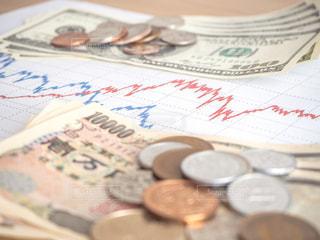 株価 チャート 投資の写真・画像素材[1099572]