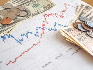 株価 チャート 投資の写真・画像素材[1099613]