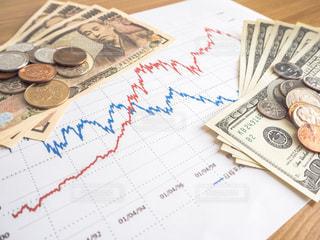 株価 チャート 投資の写真・画像素材[1099642]