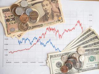 株価 チャート 投資の写真・画像素材[1099657]