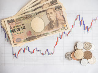 株価 チャート 投資の写真・画像素材[1099703]