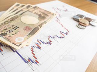株価 チャート 投資の写真・画像素材[1099706]
