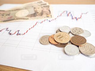 株価 チャート 投資の写真・画像素材[1099710]