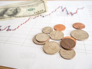 株価 チャート 投資の写真・画像素材[1099711]