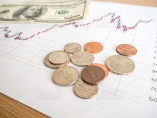 株価 チャート 投資の写真・画像素材[1099714]