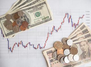 株価 チャート 投資の写真・画像素材[1100032]