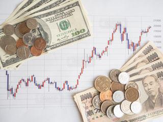 株価 チャート 投資の写真・画像素材[1100036]