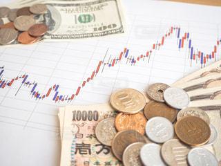 株価 チャート 投資の写真・画像素材[1100044]