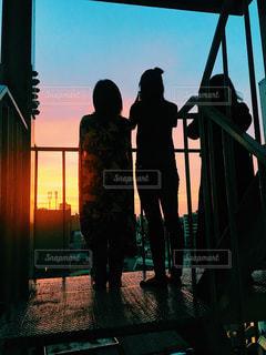 夏の夕焼けの写真・画像素材[1374474]