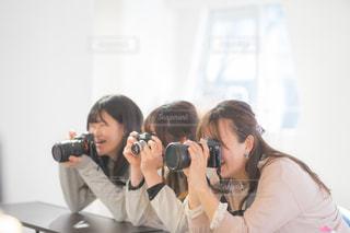 カメラ女子会グループの写真・画像素材[1846483]